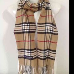 ‼️ 100% cashmere scarf plaid Price drop for today only‼️. Price firm!! 100% Cashmere Scarf from Scotland.  Warm, Soft and very comfortable.  Wait till you feel this in person. Dry clean or hand washed in cold water. Please look at picture for color.  . Please allow a few days for shipping‼️. Accessories Scarves & Wraps