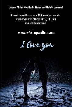 """Nach all den Jahren bedanken wir uns bei Euch. Und haben die Aktion """"I love you"""" für Euch initiiert! Monatl kannst Du dadurch nicht nur """"I love you"""" sagen, sondern dies auch noch mit einem Geschenk festigen! I Love You, My Love, Movies, Movie Posters, Fictional Characters, To Be Loved, Action, Glee, Gift"""