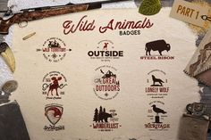 (Free Design of The Week Design) Wild Animals Badges - FREE until 5/4/17