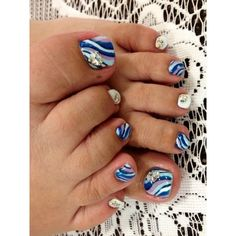 Pretty Pedicure Nail Art Designs ❤ liked on Polyvore