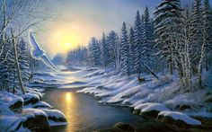 levkonoe: James Meger. Winter sunset