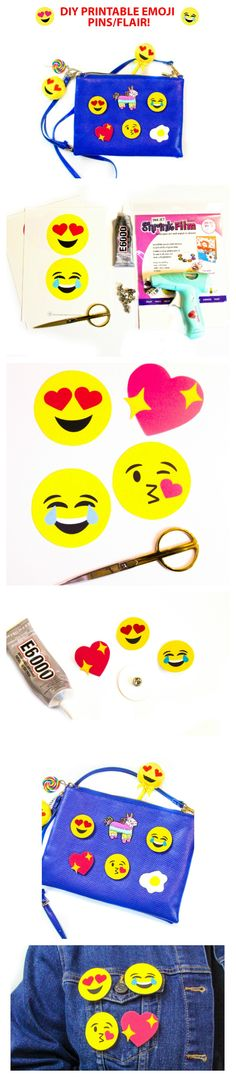 DIY Shrinky Dink Emoji PIns | Free Printable | DIY by Brite and Bubbly