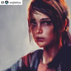 #wooolikes @wojtekfus  Another portrait exploration done a while ago! Ellie from The Last of Us! Such a good game! #ellie #tlou #thelastofus #fanart #painting #portrait #girl #sketch #illustration #digital #photoshop #drawing #digitalart #illustration #illustrationartists #portrait #regram #repost #likes #wooomic
