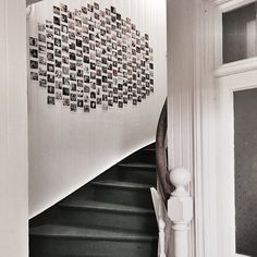 Love this DIY Instagram wall - 200 individual family photos. Great idea.
