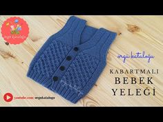 Let's learn together your own fashion accessories, basic and other creative points, techniques and tips to learn or develop the art of crochet and kni. Baby Cardigan Knitting Pattern, Knitted Baby Cardigan, Knit Baby Sweaters, Baby Hats Knitting, Baby Knitting Patterns, Baby Patterns, Baby Boy Vest, Kids Vest, Baby Coat