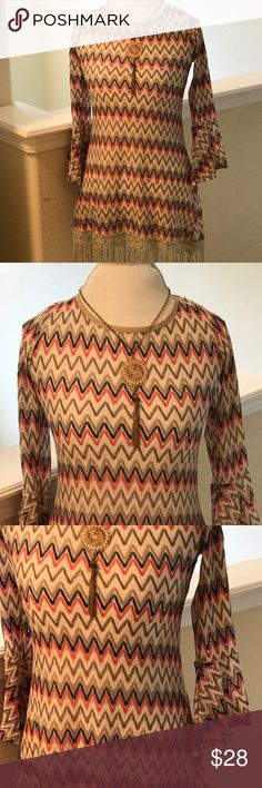 Large Areve Blouse 3/4 Sleeve Blouse Areve Tops Blouses