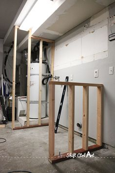 Laundry nook in garage make-over - before and demo : Building a laundry nook in the Garage Renovations, Remodel, Home Renovation, Garage Decor, Garage Remodel, Garage Door Opener, Garage Laundry Rooms, Garage Floor Paint, Garage Work Bench
