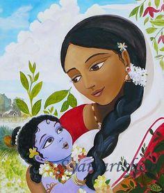 Krsna & Mother Yashoda