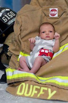Firefighter baby Dub!