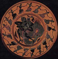 Cerâmica Grega - 550 a.C - A Dança das Nereidas e A Luta de Hércules com Tritão.