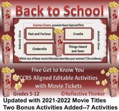 Middle School Writing, Back To School, High School, Teaching Tools, Teaching Resources, Teaching Ideas, Ap Language, English Language, Thinking Skills