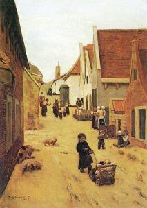 Street in Zandvoort - Max Liebermann