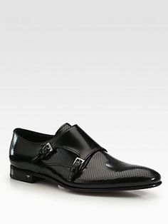 Prada Double Monk Strap Slip-On. The shoes are true killers right there Moda Fashion, Fashion Shoes, Fashion Vest, Gentleman, Men Dress, Dress Shoes, Mode Man, Double Monk Strap, Monk Strap Shoes