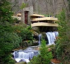 The Falling Water, by Frank Lloyd Wright