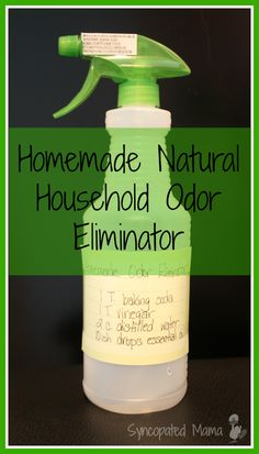 Homemade Natural Household Odor Eliminator (aka Febreeze) using essential oils Homemade Cleaning Supplies, Household Cleaning Tips, Cleaning Recipes, House Cleaning Tips, Green Cleaning, Cleaning Hacks, Household Cleaners, Essential Oils Cleaning, Household Products