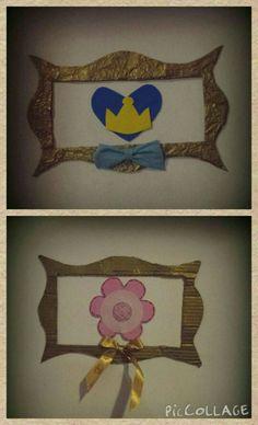 Decor quarto de menino e menina - papelão, papel de seda, Eva e adesivos autocolantes