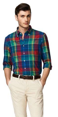 Yale Archive Indigo Poplin Shirt - Gant