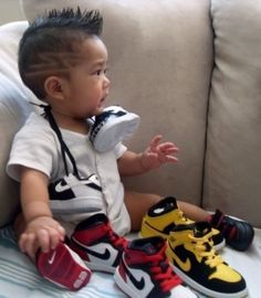 If we have a boy im pretty sure my hubby will be spoiling him with baby Jordans
