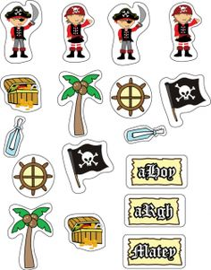 Free Printable Pirate Stickers