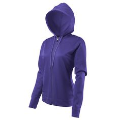"""""""Women's Vermillion Thermal Full-Zip Hoody"""" Fast-drying athletic fleece hoody keeps you warm for all your aerobic outdoor activities. Vest Jacket, Hooded Jacket, Organic Clothing Brands, Sustainable Clothing, Full Zip Hoodie, Hoody, Outdoor Activities, Jackets For Women, Athletic"""