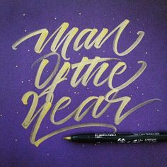 """""""Man of the year.  I wouldn't call it myself, I just checked out Schoolboy Q's Oxymoron LP last night. Great album  #schoolboyq #lettering #calligraphy…"""""""