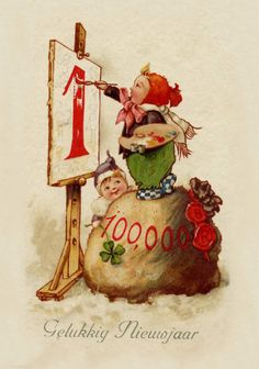EL FANZINE: Tarjetas Antiguas de Año Nuevo