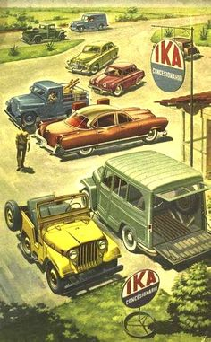 Old cars of Argentina, Kaiser Jeep Cars, Us Cars, Pub Vintage, Vintage Cars, Best Car Interior, Willys Wagon, American Motors, Car Posters, Car Illustration