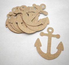 ANCHOR GIFT Tag Sailor Sailing Ship Boat Theme 5pc by SwankyTags, $2.50