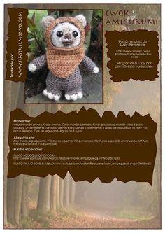 Amigurimi Ewock - Patrón Gratis en Español (7páginas) aquí: http://issuu.com/lauragonzalezjimenez/docs/amigurimi_ewock