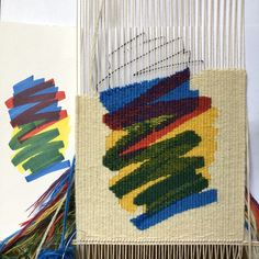The latest short courses in tapestry weaving led by Caron Penney. Weaving Textiles, Weaving Art, Weaving Patterns, Loom Weaving, Tapestry Weaving, Hand Weaving, Weaving Designs, Small Tapestry, Weaving Wall Hanging