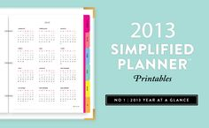 Tons of free printables at EmilyLey.com | perfect for The Simplified Planner or any binder