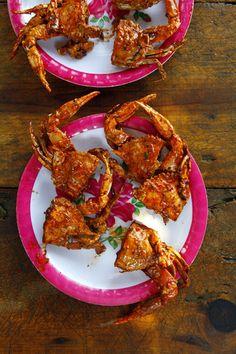 Jaibas Enchipotladas (Pan-Fried Crabs in Chipotle Sauce) | SAVEUR