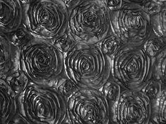 "Fabric: Satin Ribbon Rosette 58"" - 60""  Charcoal Fabric 1 Yard. $10.99, via Etsy."
