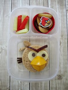 Angry Birds Red Bird School Lunch | creativefunfood.com