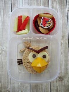Angry Birds Red Bird School Lunch | creativefunfood.com