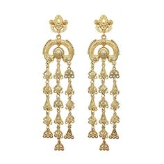 Royalty Earrings - Gold