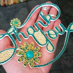 Always be grateful - by: Quilling Owl-Photo by Mona Brezeanu