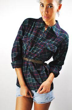 Vintage 1990s Shirt/ Pendleton Wool / Plaid / by IndieStyleSociety, $42.00