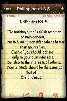Philippians 2:3-5