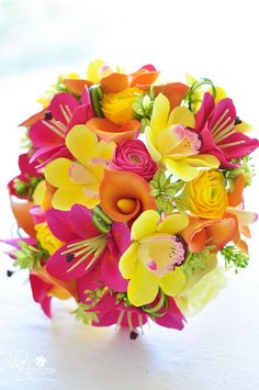 Tropical Floral Bouquet #destination #beach #wedding