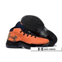 sports shoes f8823 b37f7 UA Curry 2.5 Shoes - 2016 UA Curry 2.5 Elite Total Black Bright Citrus  Orange Shoes