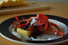 Brown Butter Polenta Loaf with Miso Caramelized Sun Dried Vegetables