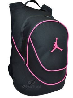 nike pink and black backpack