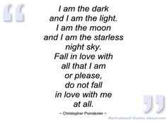 I am the dark - Christopher Poindexter - Quotes and sayings