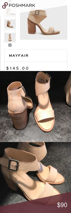 Kelsi dagger Mayfair style heeled sandals Gorgeous nude heel sandal from 2017 spring collection. Worn once and too small. Fits size 6.5 but labeled us size 6 Kelsi Dagger Shoes Heels