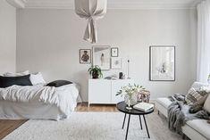 my scandinavian home: Beautiful small space inspiration - Swedish style! #bedroom #livingroom #studio
