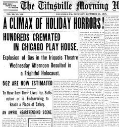 Iroquois theatre disaster