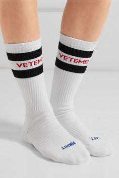 Vetements  socks accented the debut look on the label s Fall  16 runway.  Made ae8c259d66