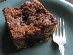 Blueberry Crumb Coffeecake                                  (grain-free, gluten-free, dairy-free)