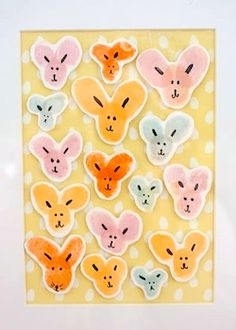 Cute fingerprint bunnies for a keepsake Easter decoration -make sure to include date.No instruction-use your imagination.6a00d8341cc08553ef0167645c8c35970b-pi 250×350 pixels